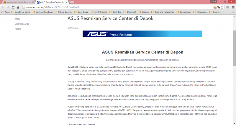 Asus Center Depok