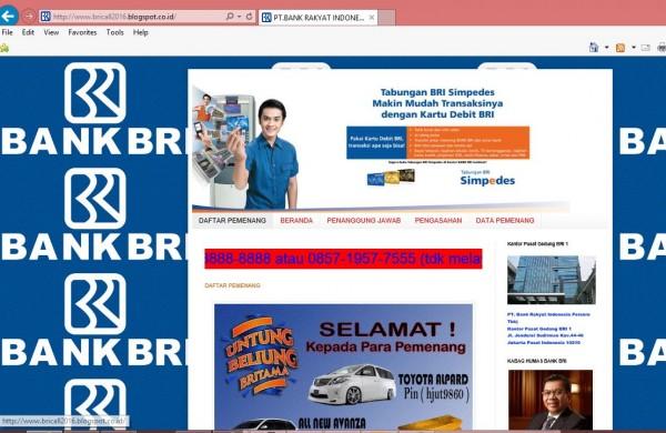 Website Penipuan Bank BRI