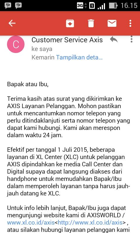 Email dari Axis