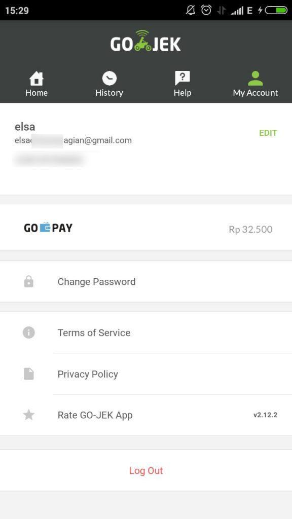 Saldo Go-Pay di aplikasi