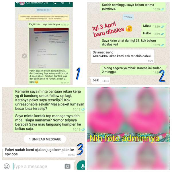 Chat dengan CS Wahana
