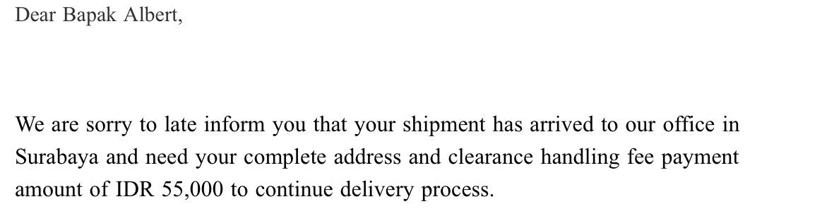 Email dari FedEx