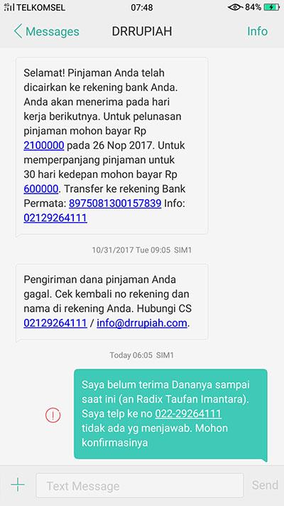 Dr Rupiah Susah Dihubungi Media Konsumen