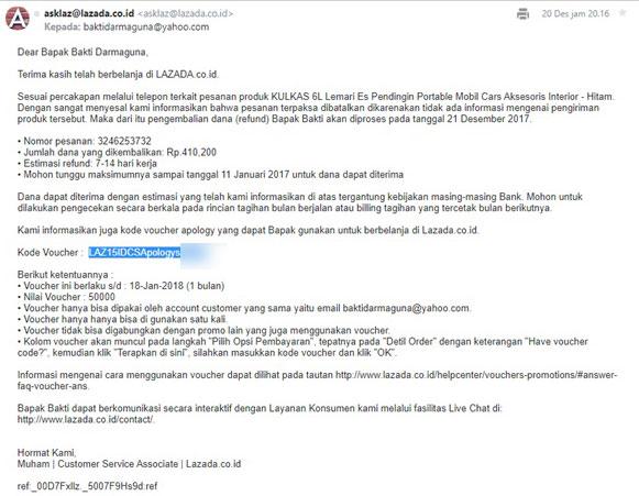 Email dari Lazada