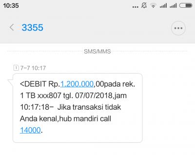 Status Transfer Melalui Mobile Online Bank Mandiri Gagal Tapi Saldo Terdebet Media Konsumen