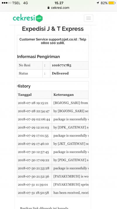Cek resi pengiriman j&t | Cek Resi Pos Indonesia. 2020-04-23