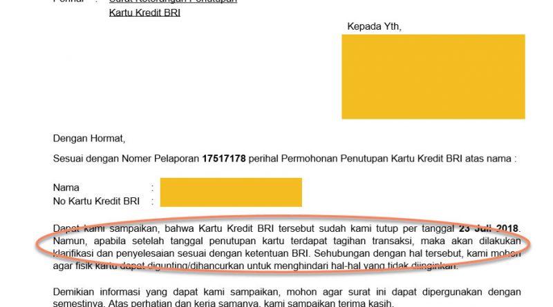Mohon Klarifikasi Bri Terkait Penutupan Kartu Kredit Media Konsumen