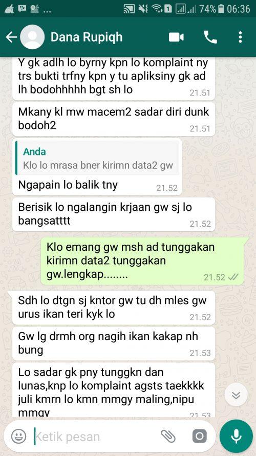 Bahasa Penagihan Collector Dana Rupiah Sangat Kasar Media Konsumen