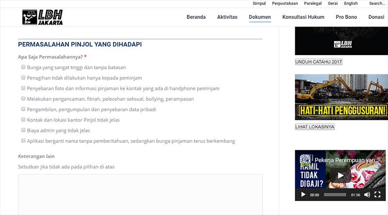 Lbh Jakarta Membuka Pos Pengaduan Terkait Masalah Fintech Pinjaman