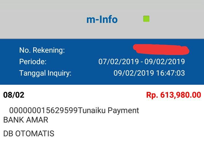 Rekening Terdebit Otomatis Pelayanan Bank Amar Tunaiku Mengecewakan Media Konsumen