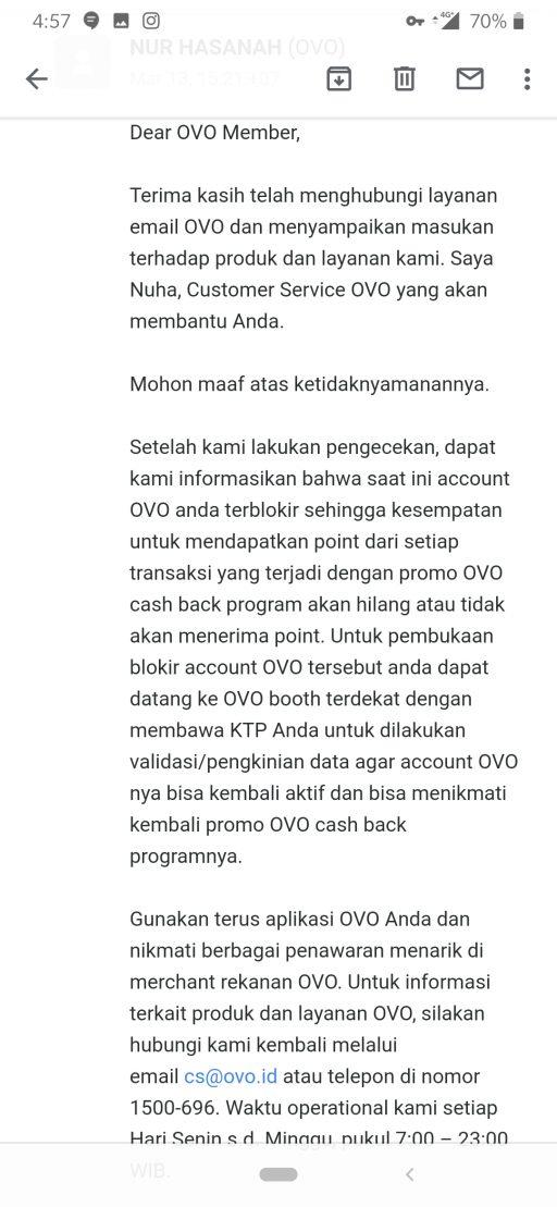 Cashback Ovo Tidak Diberikan Dan Akun Diblokir Sepihak Tanpa