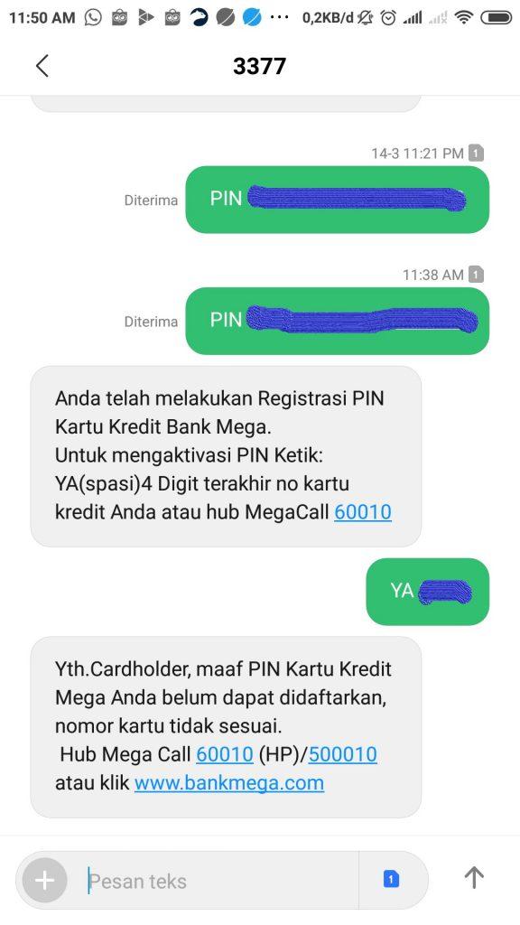 Kesulitan Aktivasi Pin Kartu Kredit Bank Mega Media Konsumen