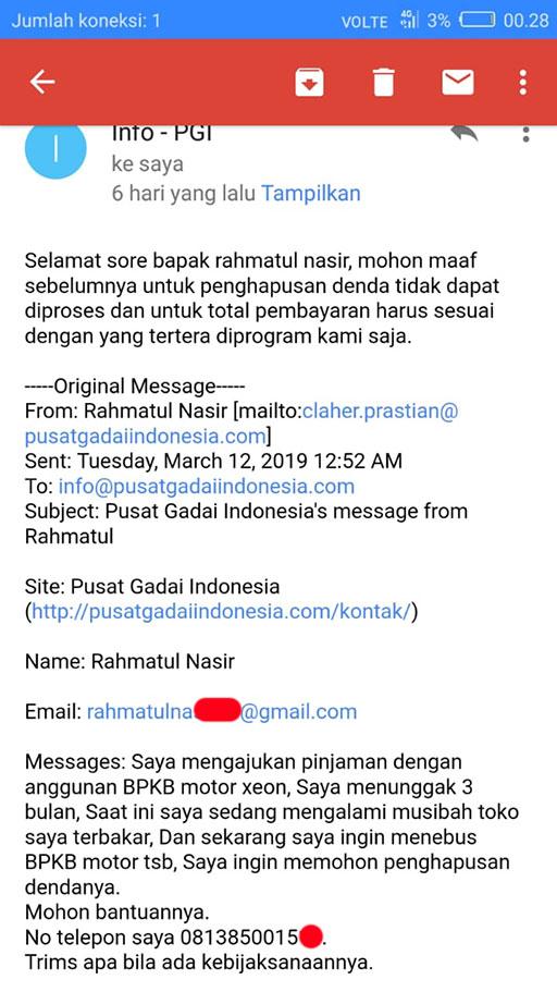 Pinjaman 3 Bulan Di Pusat Gadai Indonesia Senilai Hutang