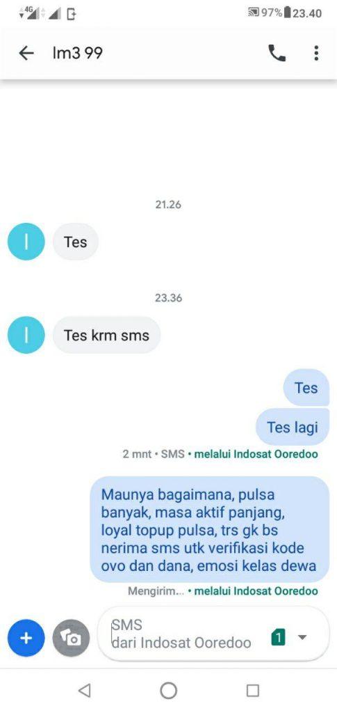 Nomor Indosat Tidak Bisa Menerima Sms Saldo Ovo Tidak Terdeteksi
