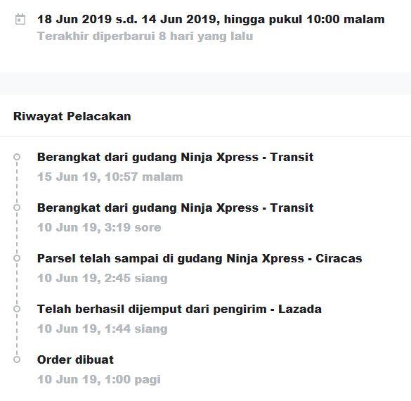 Ninja Xpress Tidak Bertanggung Jawab Atas Pengiriman Barang Pesanan Saya Di Lazada Media Konsumen