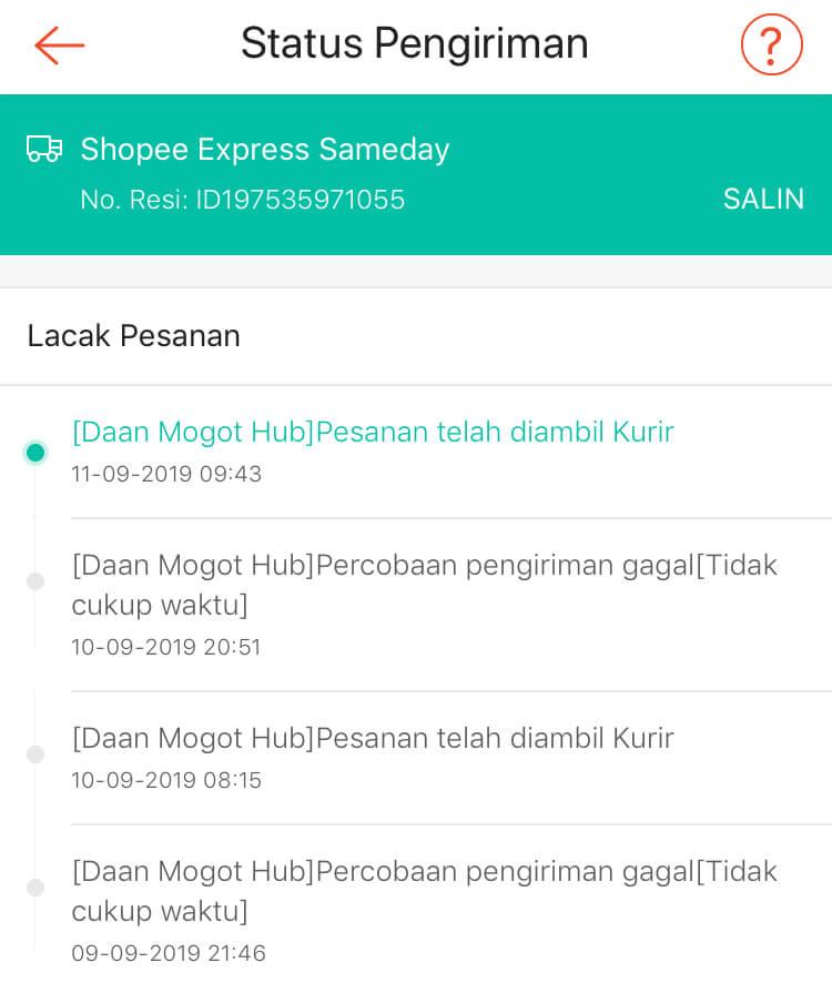Shopee Express Sameday Sudah 4 Hari Paket Belum Sampai Media Konsumen