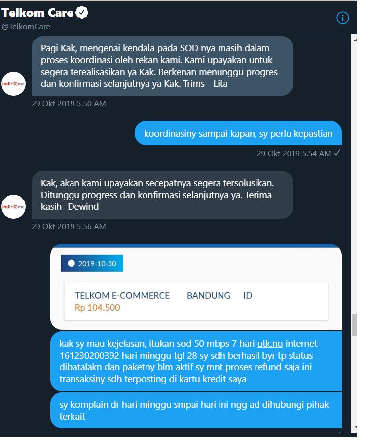 Kecewa Dengan Telkom Indihome Yang Mengambil Keputusan Secara Sepihak Media Konsumen