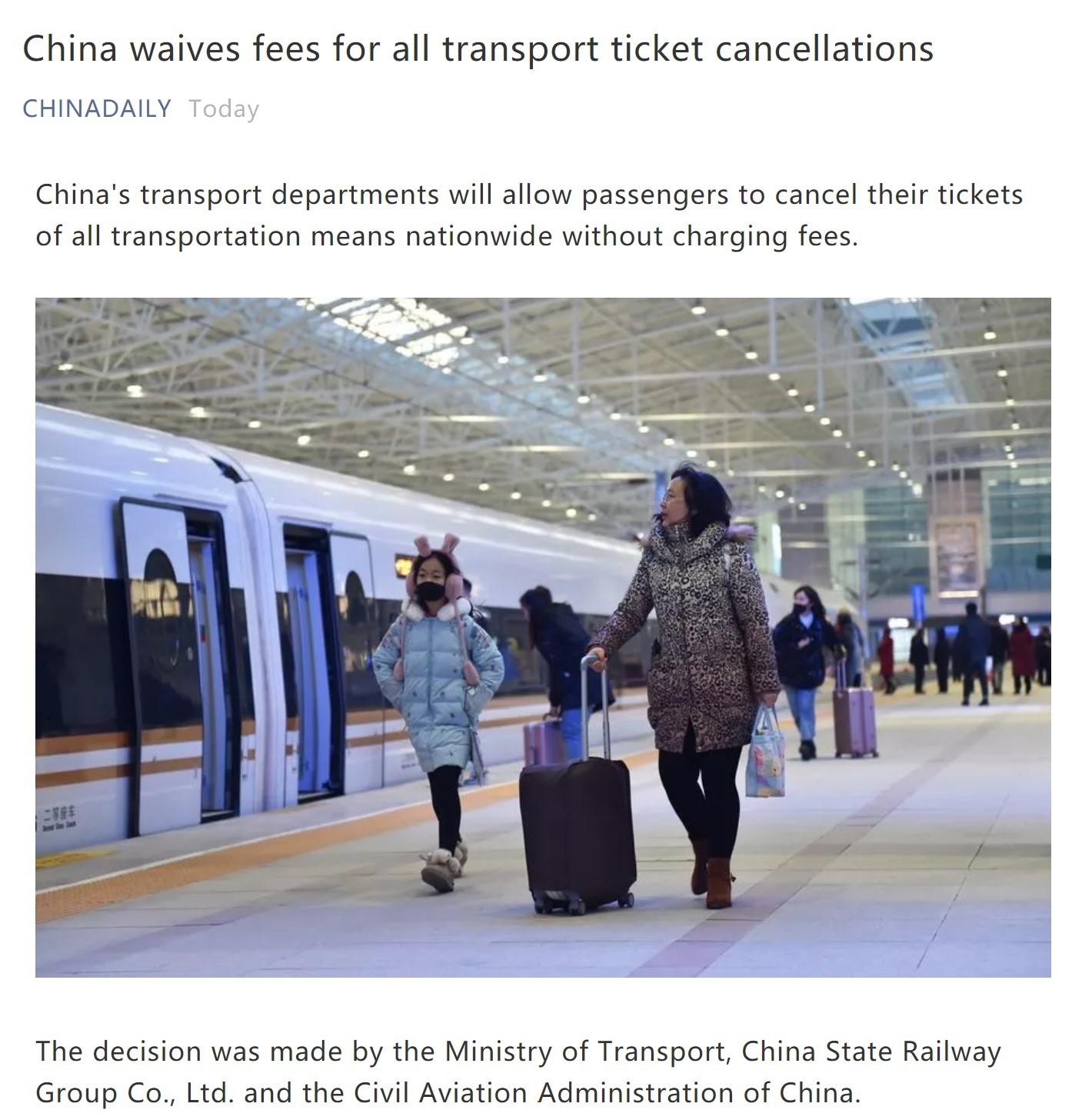Kementrian Transportasi di China