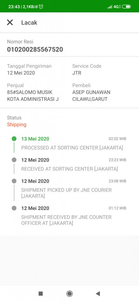 Paket Jne Trucking Tidak Kunjung Saya Terima Padahal Sudah Melewati Estimasi Hari Media Konsumen
