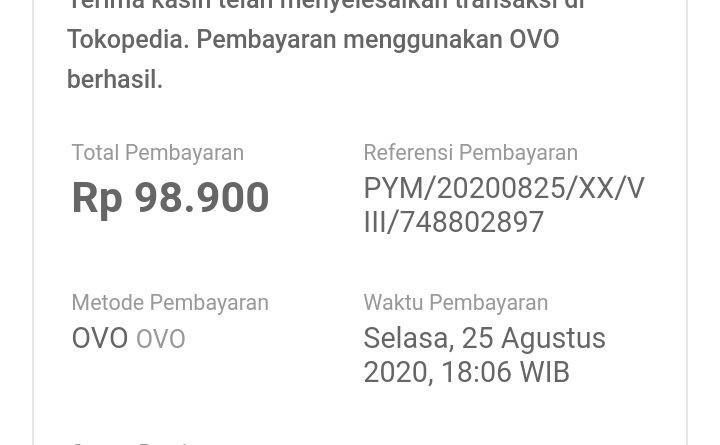 No invoice transaksi