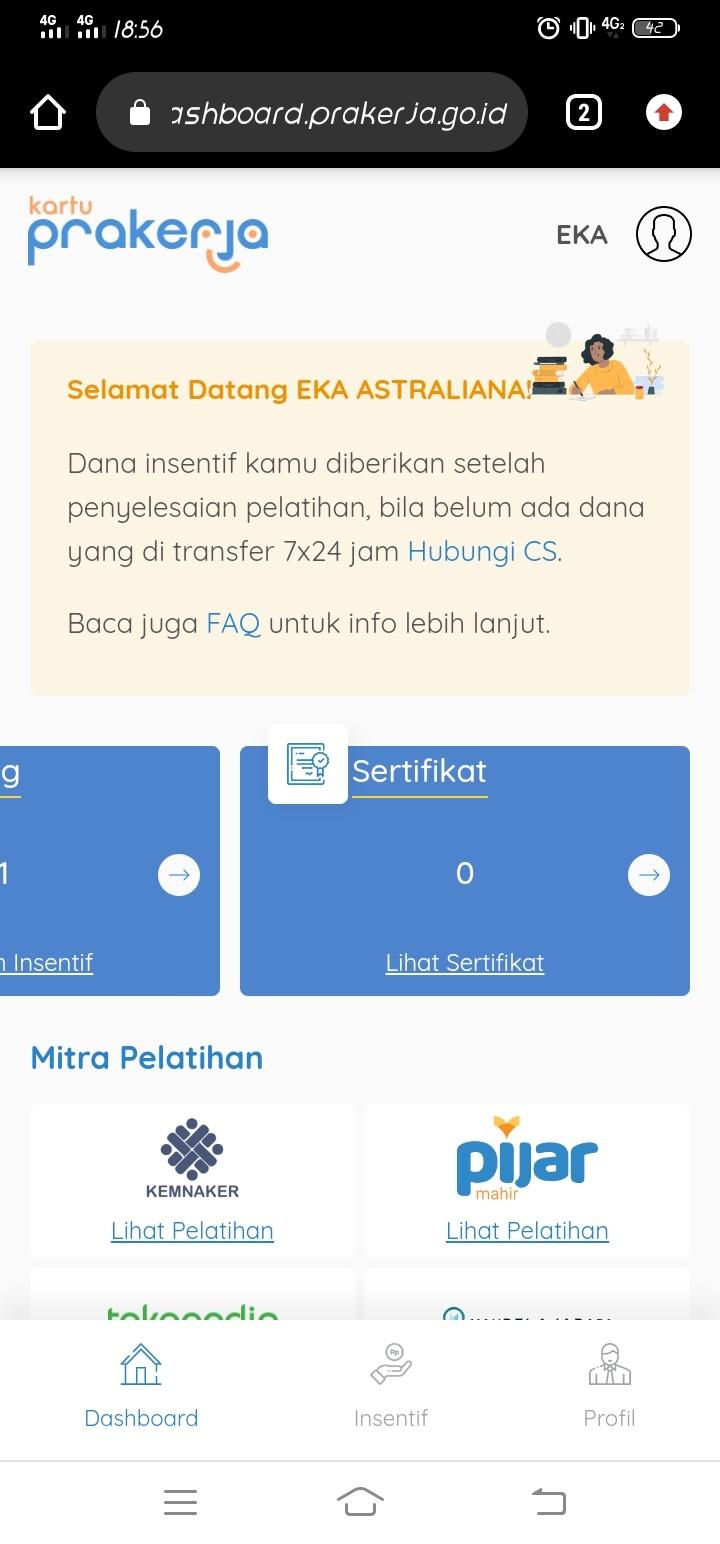 Sertifikat Kartu Prakerja Gelombang 4 Tidak Muncul Di Dashboard Media Konsumen