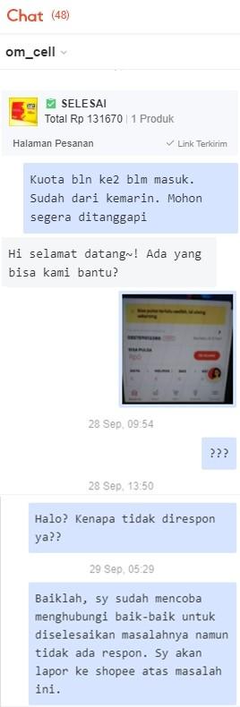 chat dengan seller penipu