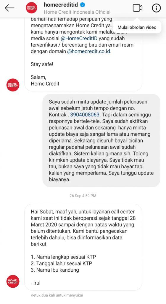Pelunasan Angsuran Awal Home Credit Indonesia Dipersulit Dan Diperlama Media Konsumen