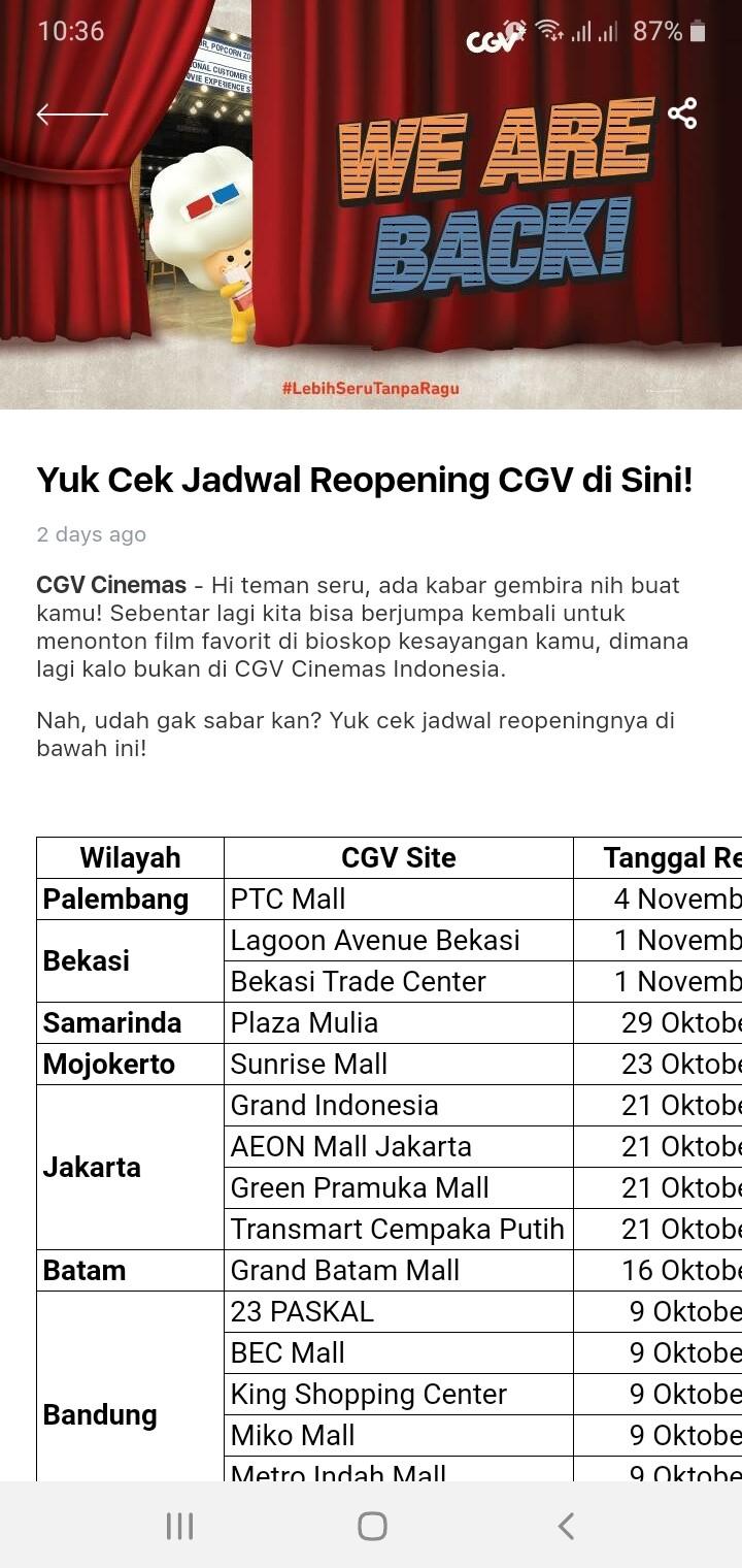 Announcement 01 Nov