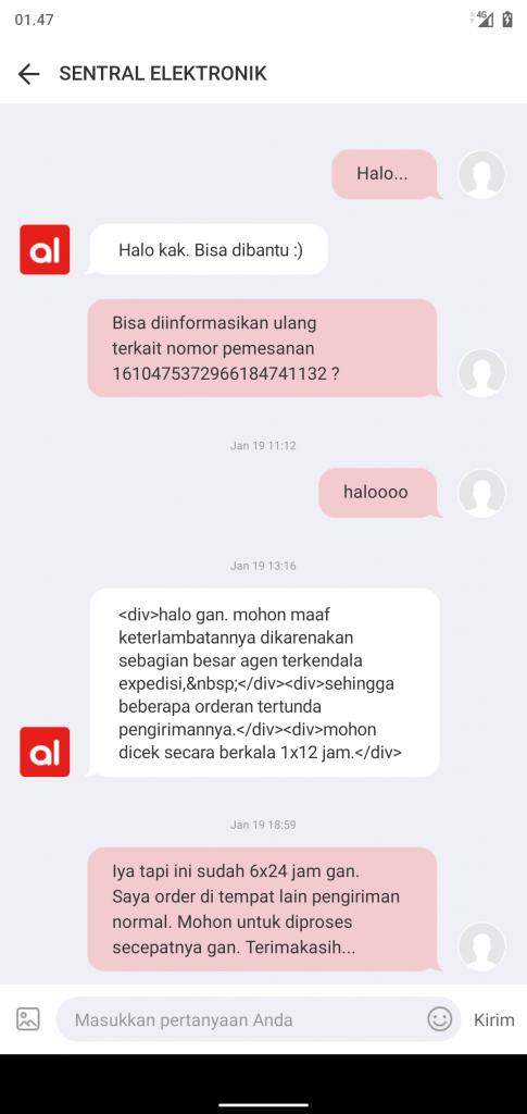 Respon SENTRAL ELEKTRONIK