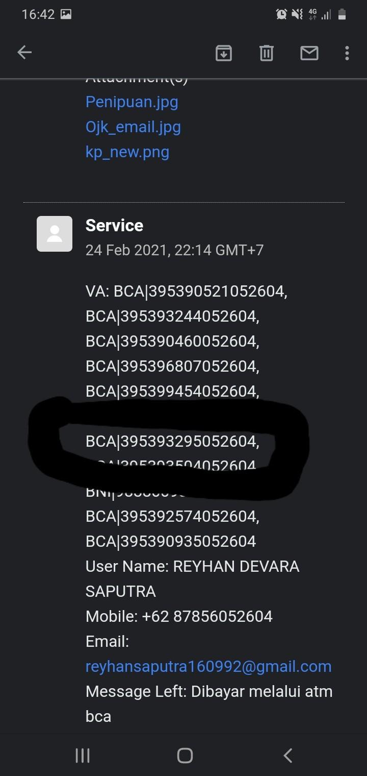 Ini adalah no VA Kredit Pintar via BCA yang berubah rubah