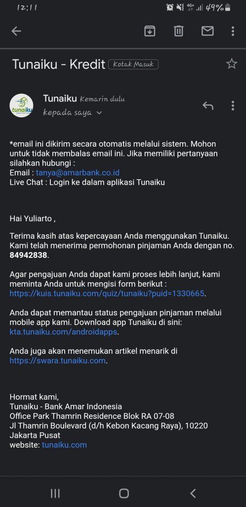 Penolakan oleh Tunaiku Meski Sudah Tanda Tangan Kontrak ...