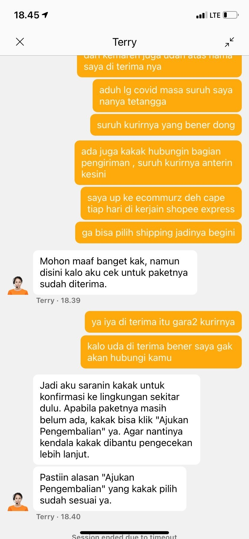 Jawaban CS Shopee yang tidakada solusi