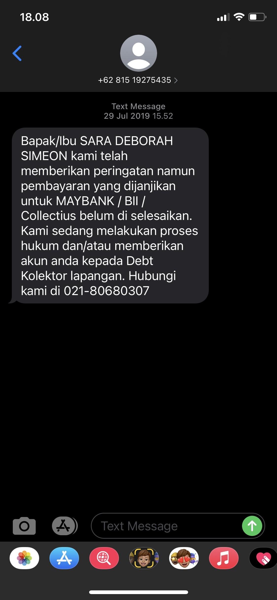 SMS dari Collectius
