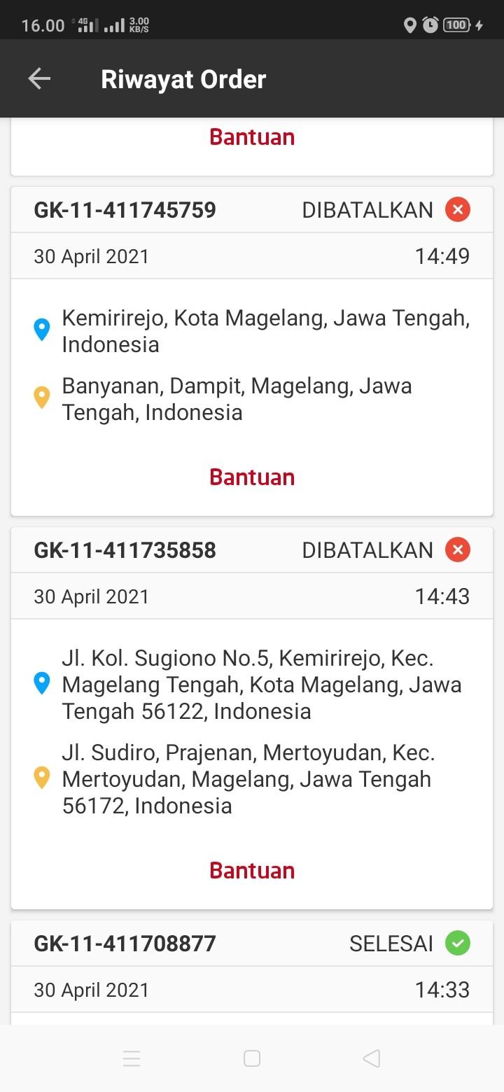 Order Gosend jam 14.43