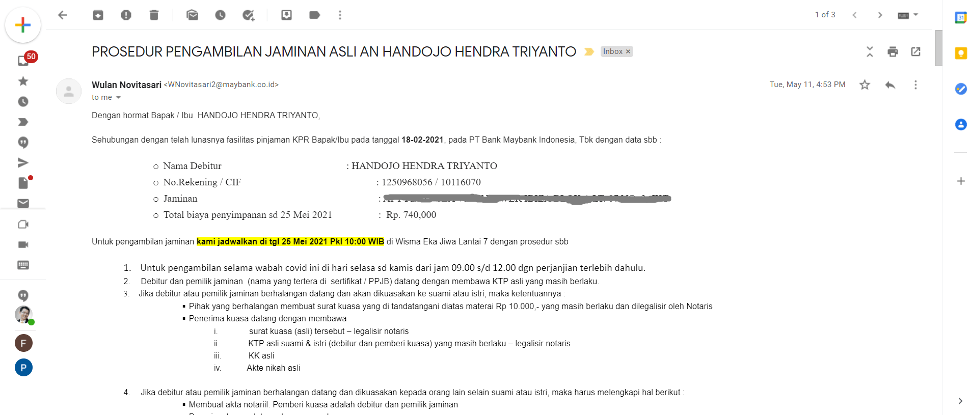 Email 11 Mei 2021