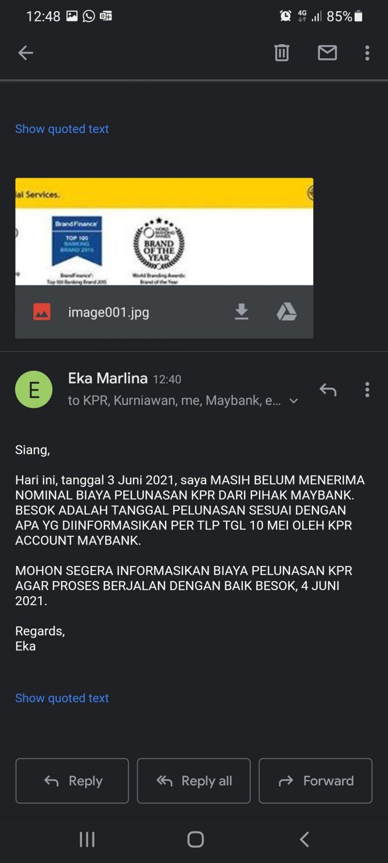 Email ke Maybank