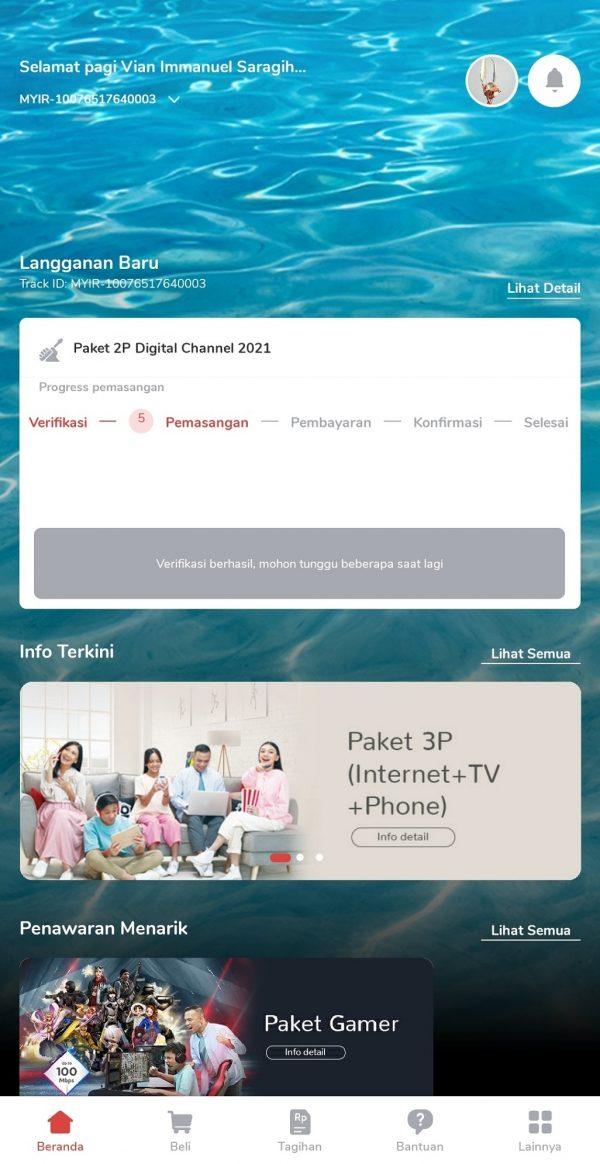 Request by aplikasi MyIndihome