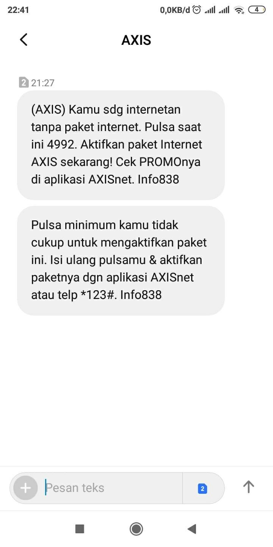 SMS pemotongan