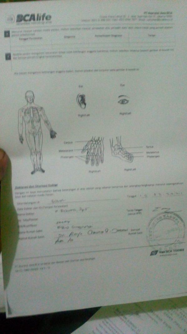 Surat pernyataan dokter