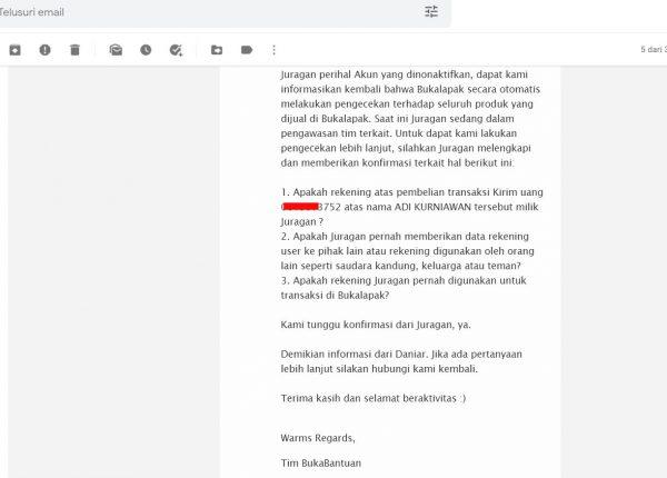 Permintaan dari Mitra Bukalapak