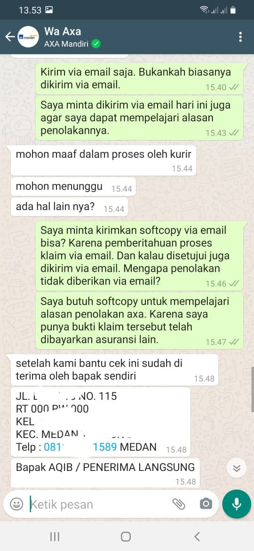 screenshot chat axa