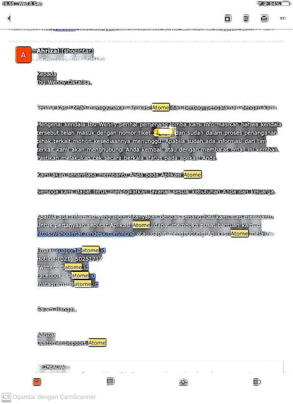 Email dari Atome