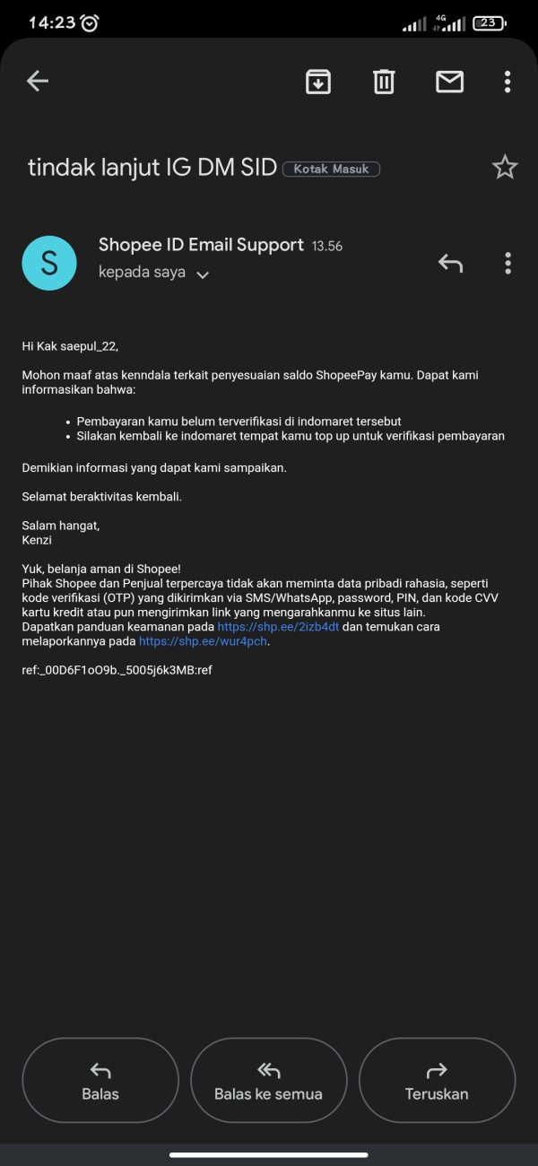Email shopee