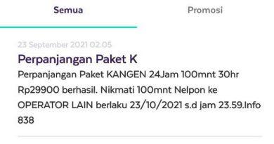 """Perpanjangan Paket AXIS """"Kangen 24 Jam, 100 Menit Antar Operator"""" Tidak Mendapatkan Menit Sesuai dengan Paketnya"""